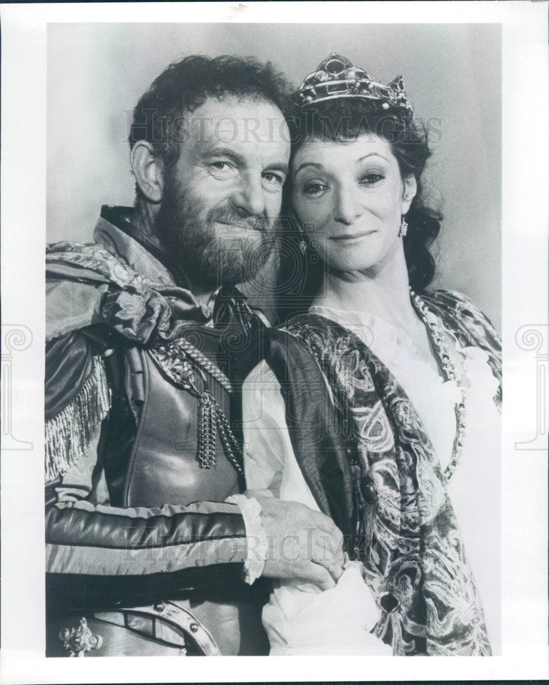 1981 Actors Colin Blakely & Jane Lapotaire in Antony & Cleopatra Press Photo - Historic Images