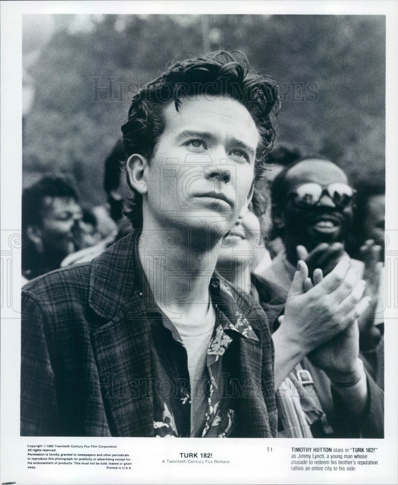 1985 Hollywood Actor/Movie Star Timothy Hutton in Turk 182! Press Photo - Historic Images