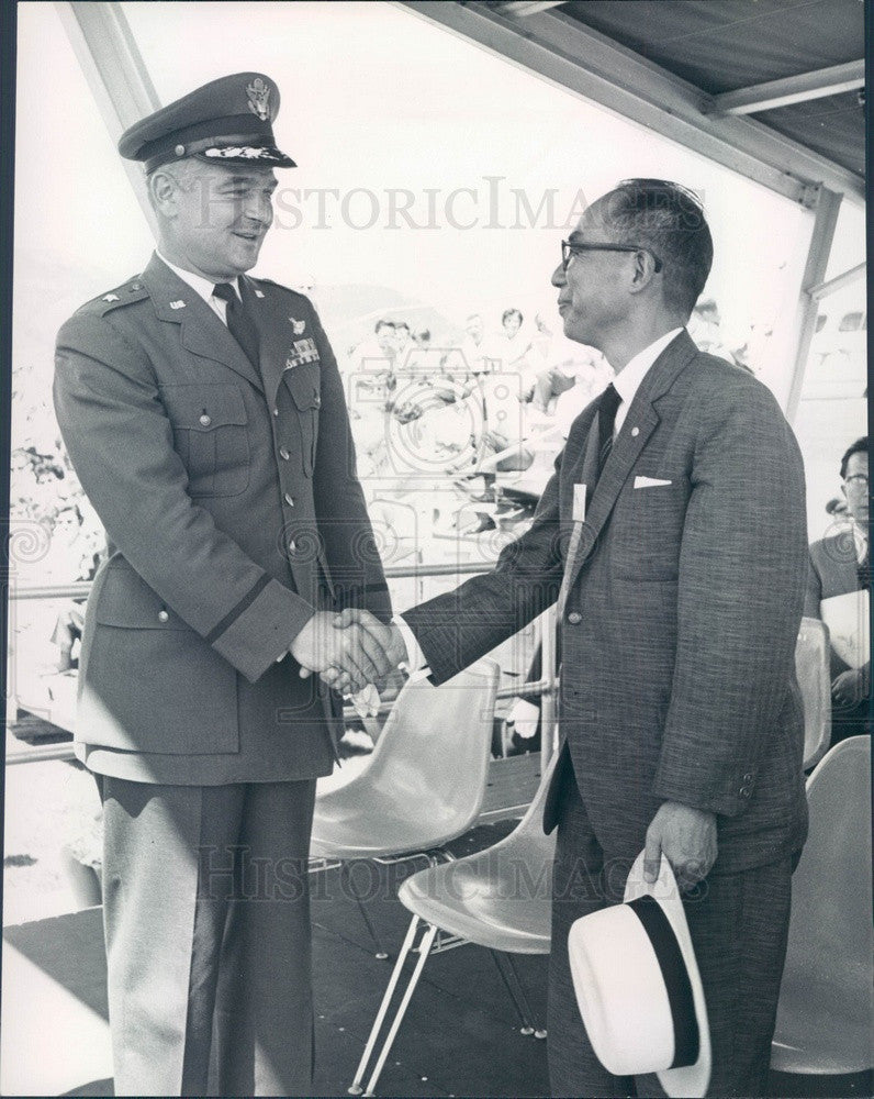 1964 Takayama, Japan Mayor Shinichiro Iwamoto & USAF Academy Press Photo - Historic Images