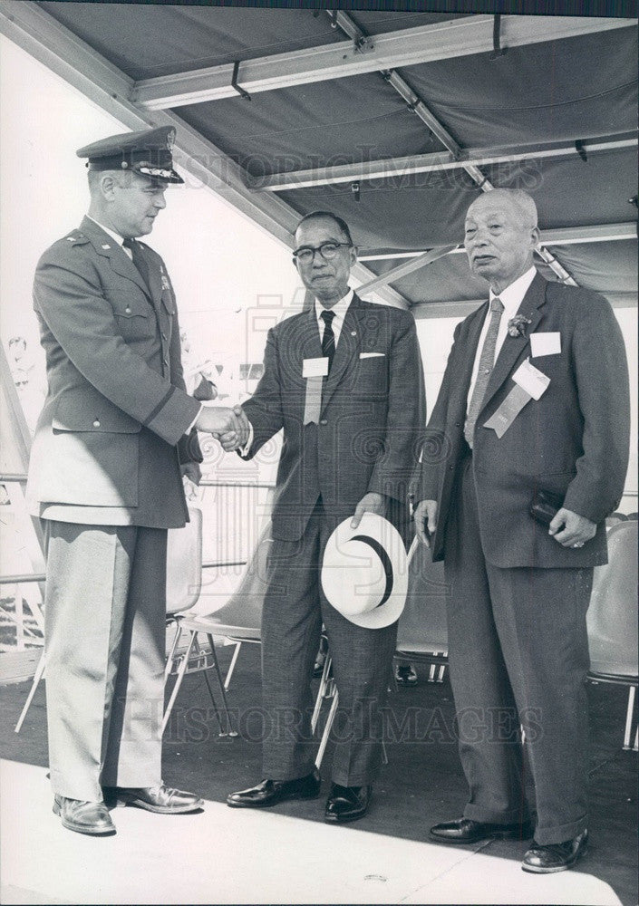 1964 Takayama, Japan Mayor Shinichiro Iwamoto, USAF Academy Press Photo - Historic Images