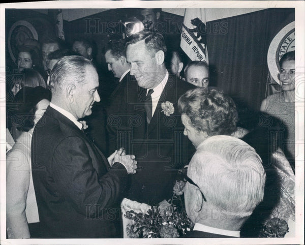 1965 US President Lyndon Johnson, Colorado Governor John Love Press Photo - Historic Images