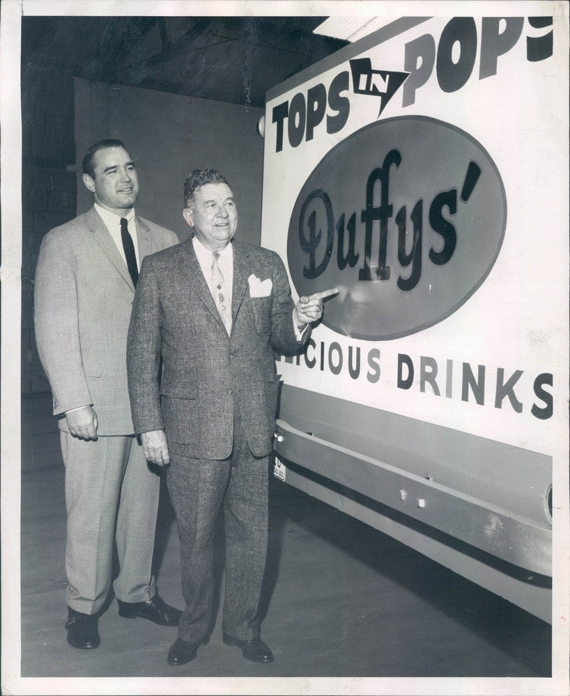 1960 Denver, Colorado Duffy's Delicious Drinks President Frank Duffy Press Photo - Historic Images