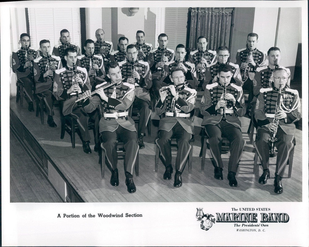 Undated US Marine Corps Band, Woodwind Section Press Photo - Historic Images