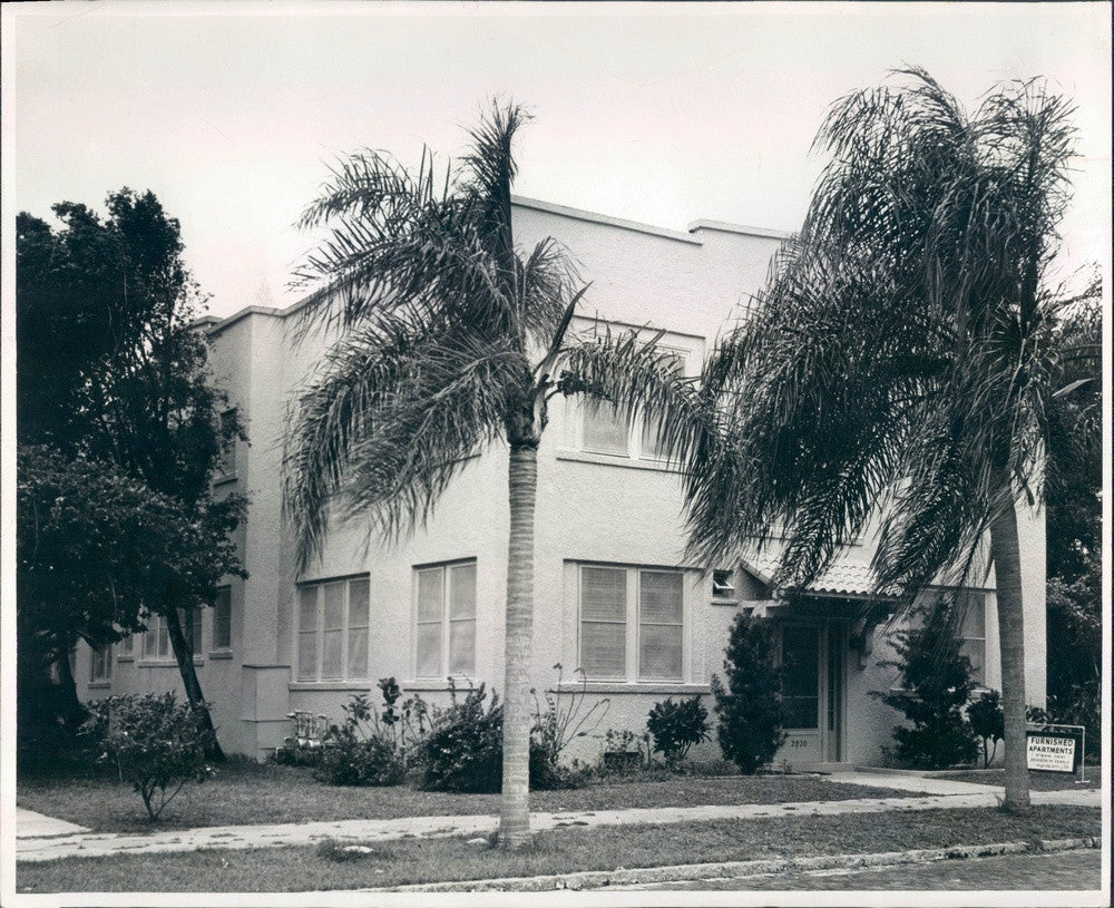 Undated St Petersburg, Florida Sunland Apartments Press Photo - Historic Images