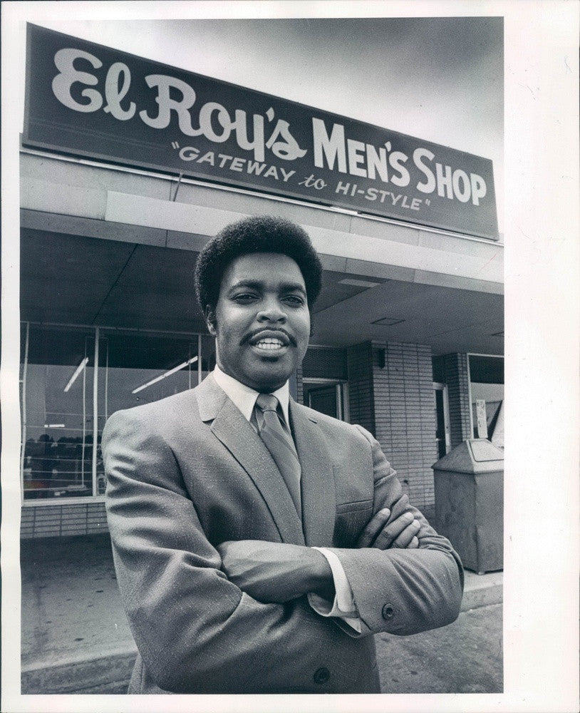 1969 Denver, Colorado Businessman Roy Matheny, El Roy's Men's Shop Press Photo - Historic Images