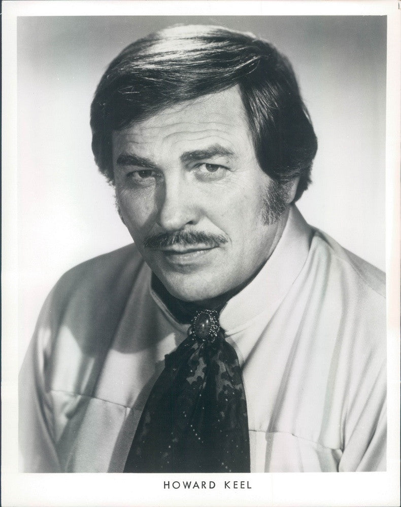 1977 Hollywood Actor & Singer Howard Keel, Star of TV Show Dallas Press Photo - Historic Images