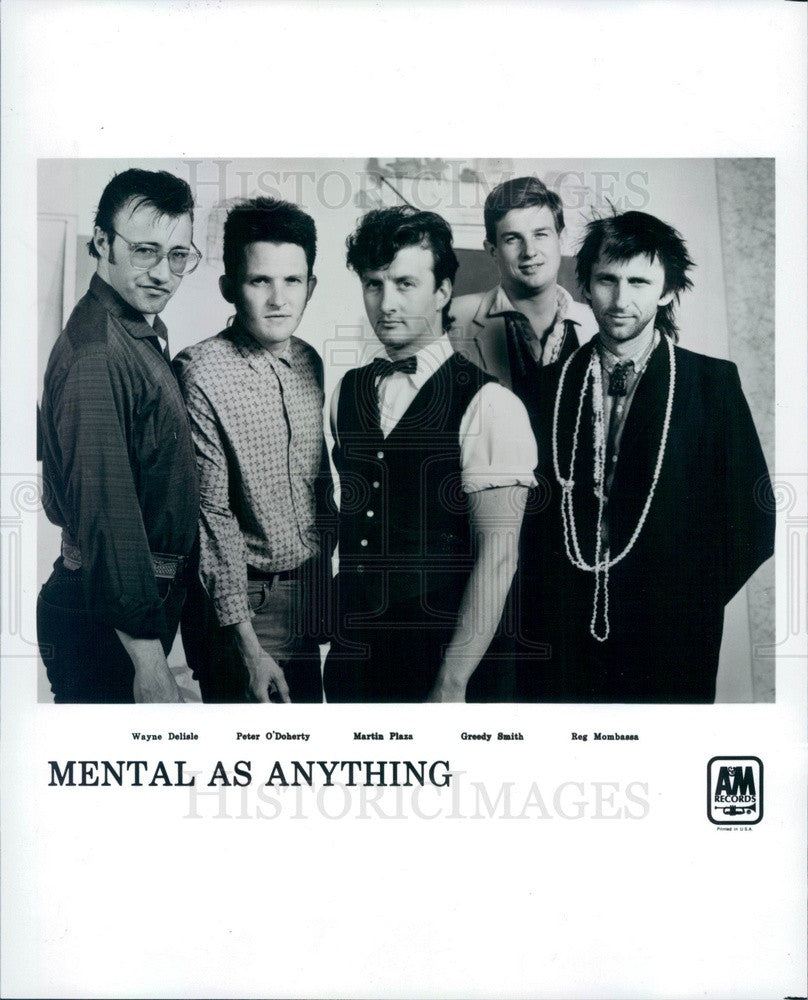 1983 Australian Rock Band Mental As Anything Press Photo - Historic Images