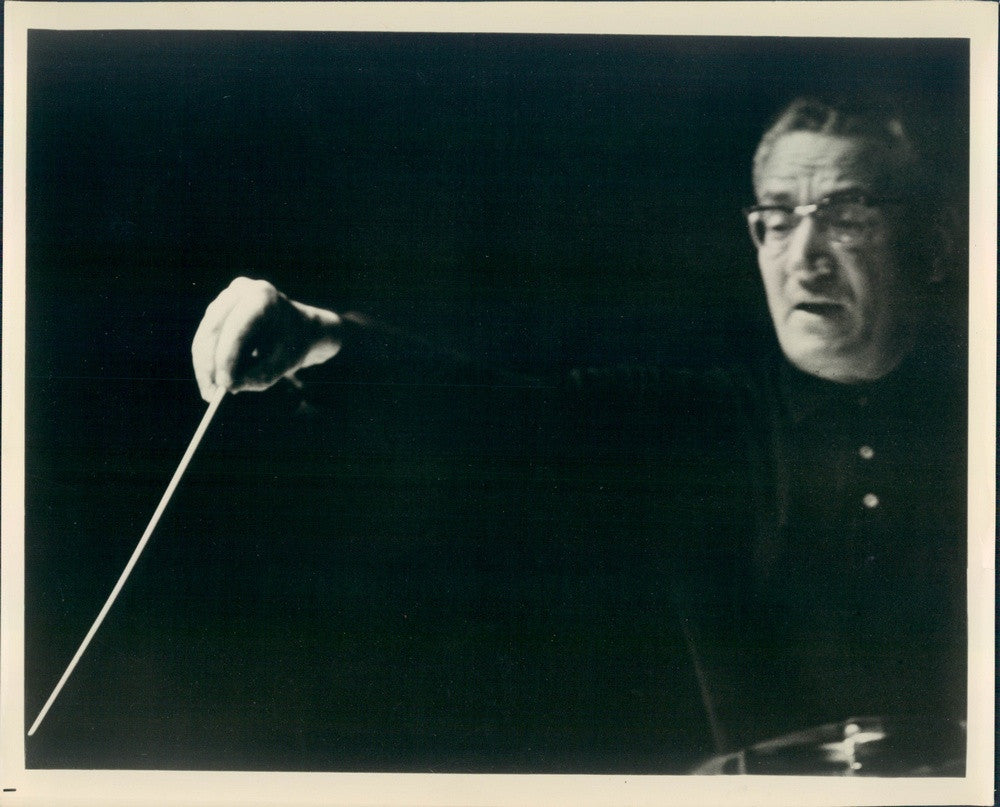 1964 CBS Music Dir Alfredo Antonini, Tampa Philharmonic Conductor Press Photo - Historic Images
