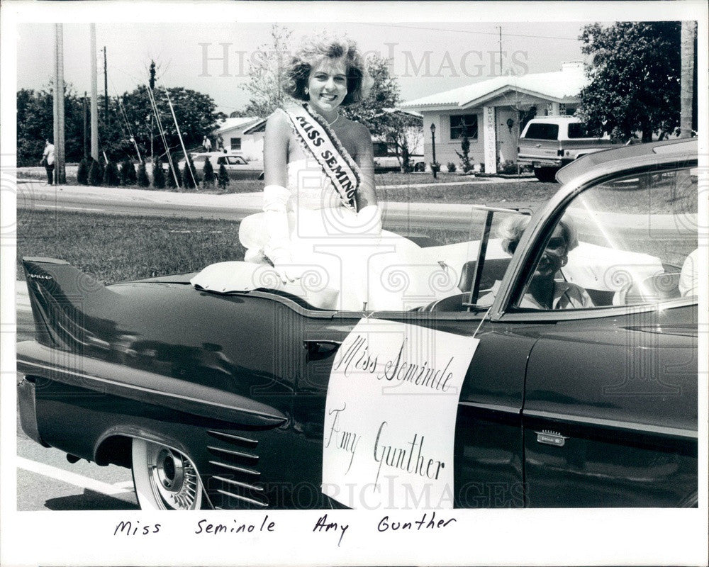 1986 Miss Seminole, Florida Amy Gunther Press Photo - Historic Images