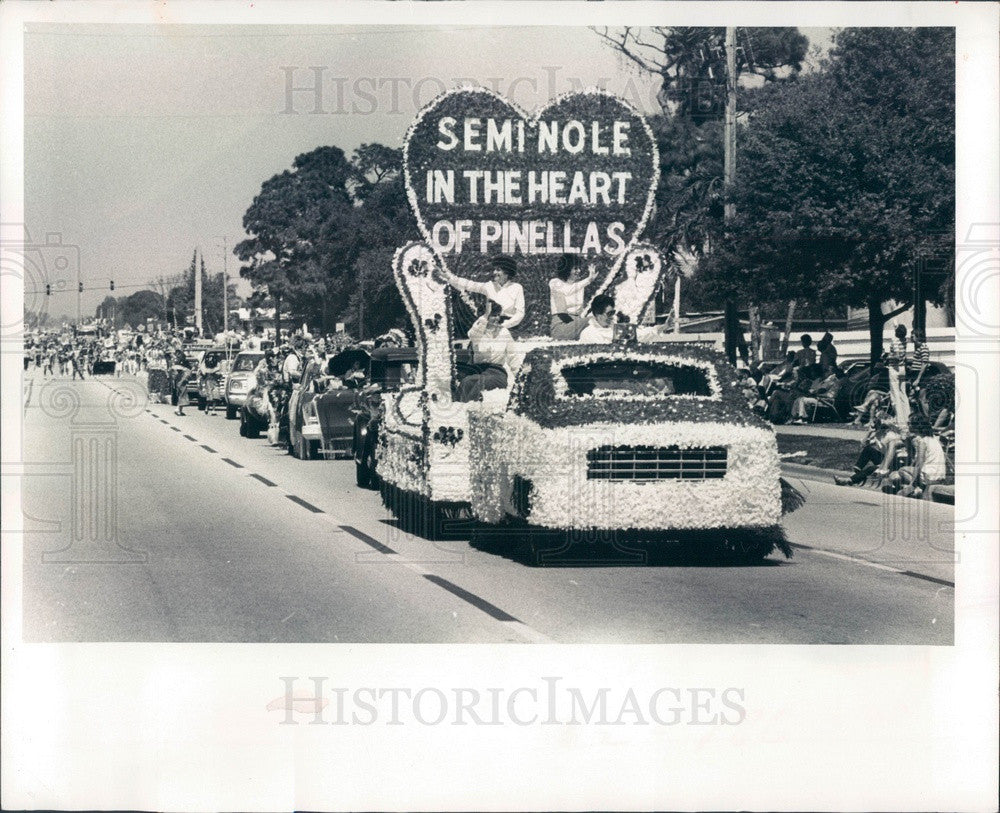 1982 Seminole, Florida Pow Wow Festival Parade Press Photo - Historic Images