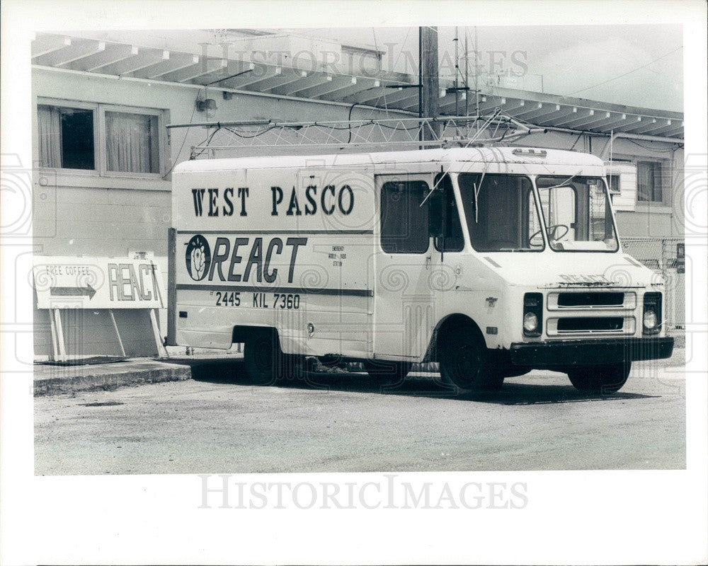 1985 West Pasco, FL REACT Van, Radio Emergency Associated Citizens Press Photo - Historic Images