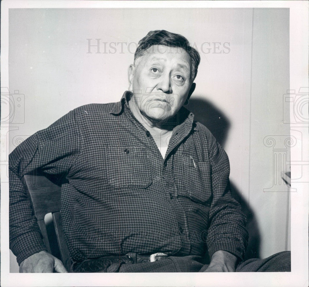 1955 US Crow Nation Leader Robert Yellowtail Press Photo - Historic Images