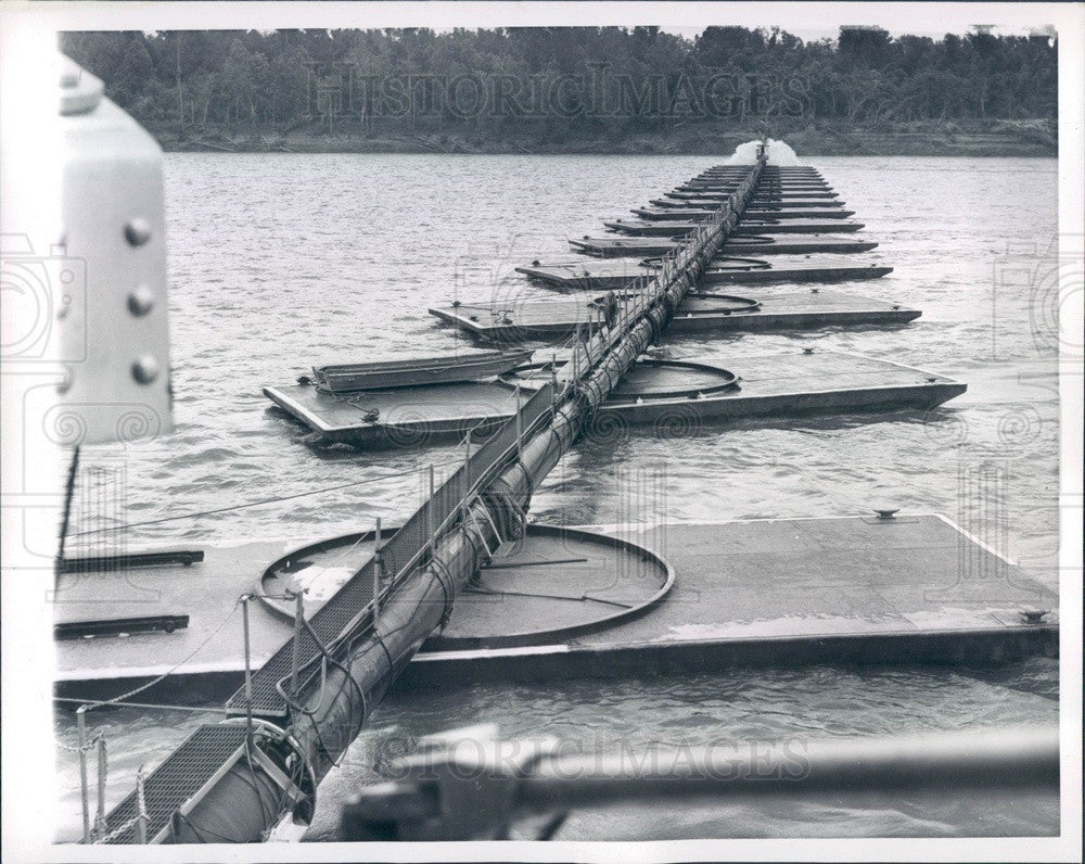 1960 Mississippi River Sand Dredge Press Photo - Historic Images