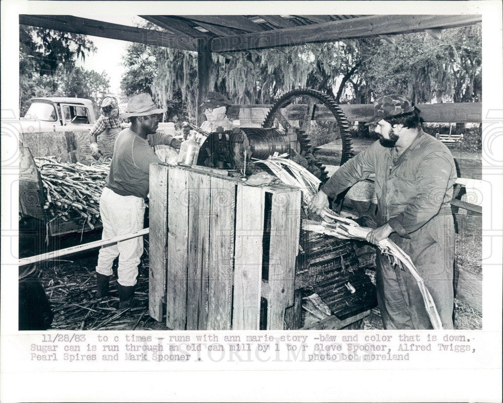 1983 Inverness, FL Sugar Cane Mill, Cleve Spooner, Alfred Twiggs Press Photo - Historic Images