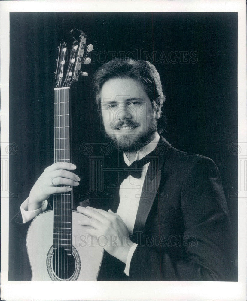 1986 Classical Guitarist John Holmquist Press Photo - Historic Images