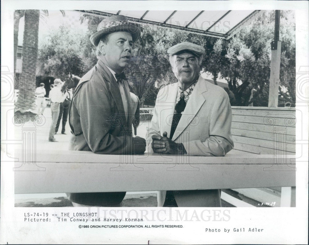 1986 American Hollywood Comedians/Actors Tim Conway & Harvey Korman Press Photo - Historic Images