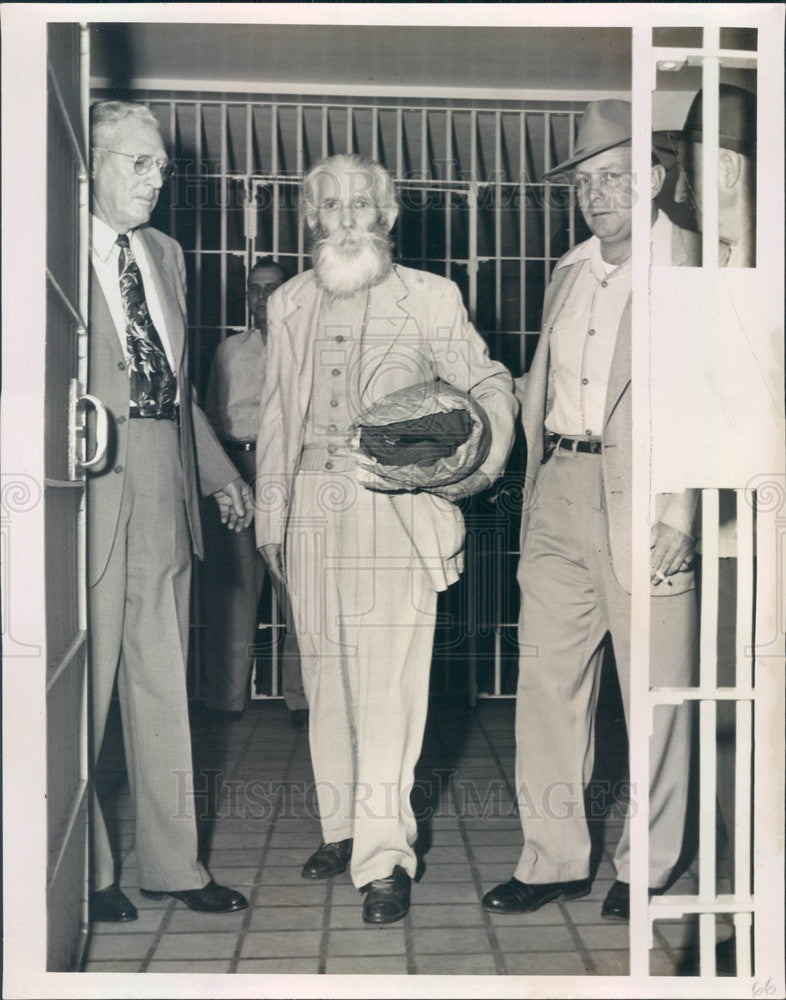 1951 St Petersburg, FL Rep Charles Schuh's Murderer Charles Gifford Press Photo - Historic Images