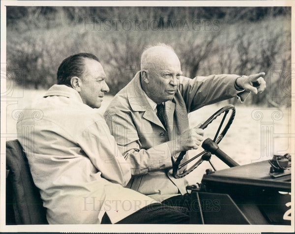 1964 US President Dwight Eisenhower Press Photo - Historic Images