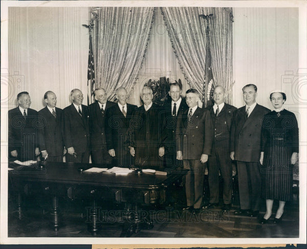 1953 US President Dwight Eisenhower & Cabinet Members Press Photo - Historic Images