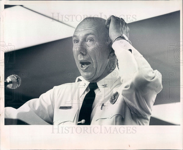 1976 Zephyrhills, Florida Police Chief William Eiland Press Photo - Historic Images