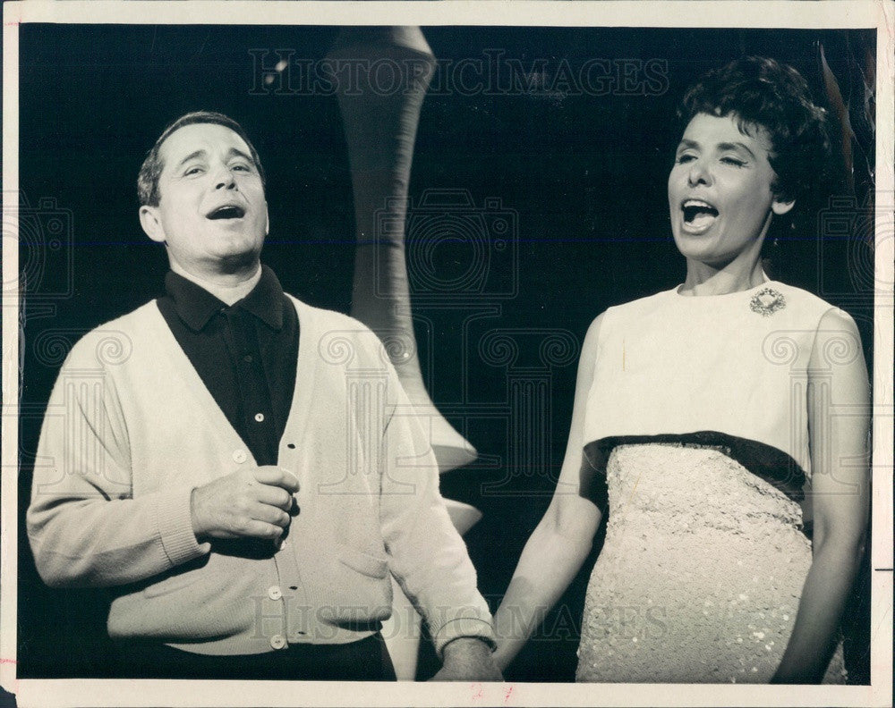 1965 Emmy Winning Entertainer Perry Como Press Photo - Historic Images