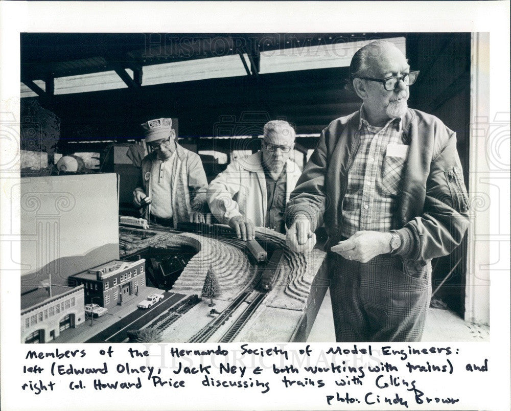 1984 Hernando, Florida Society of Model Train Engineers Members Press Photo - Historic Images