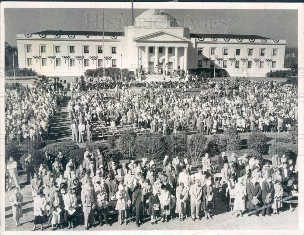 1957 Florida Inauguration Crowd Press Photo - Historic Images