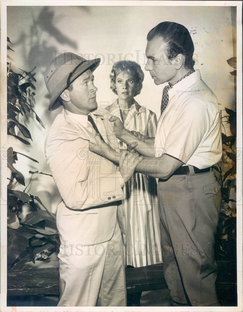 1960 Actors Red Buttons, John Colicos, Nancy Wickwire Press Photo - Historic Images
