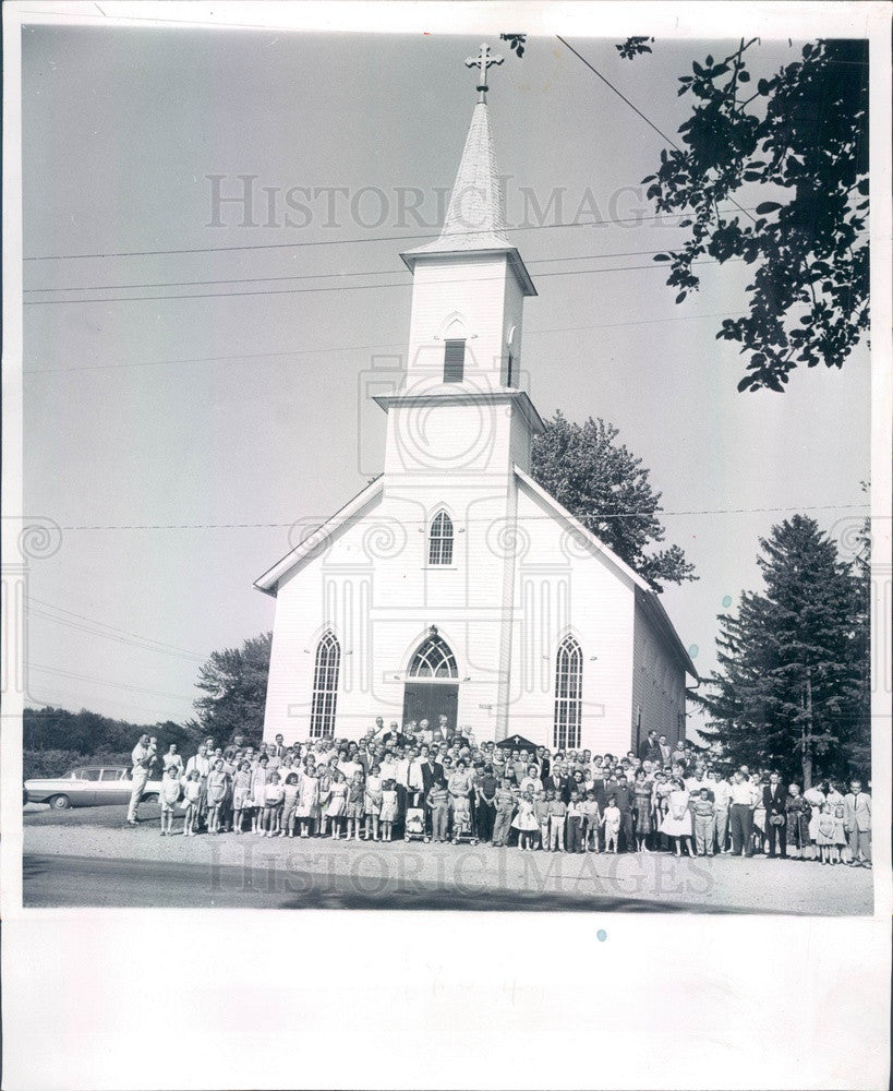 1961 Detroit MI St Peters Evangelical Lutheran Church, Schoof Family Press Photo - Historic Images