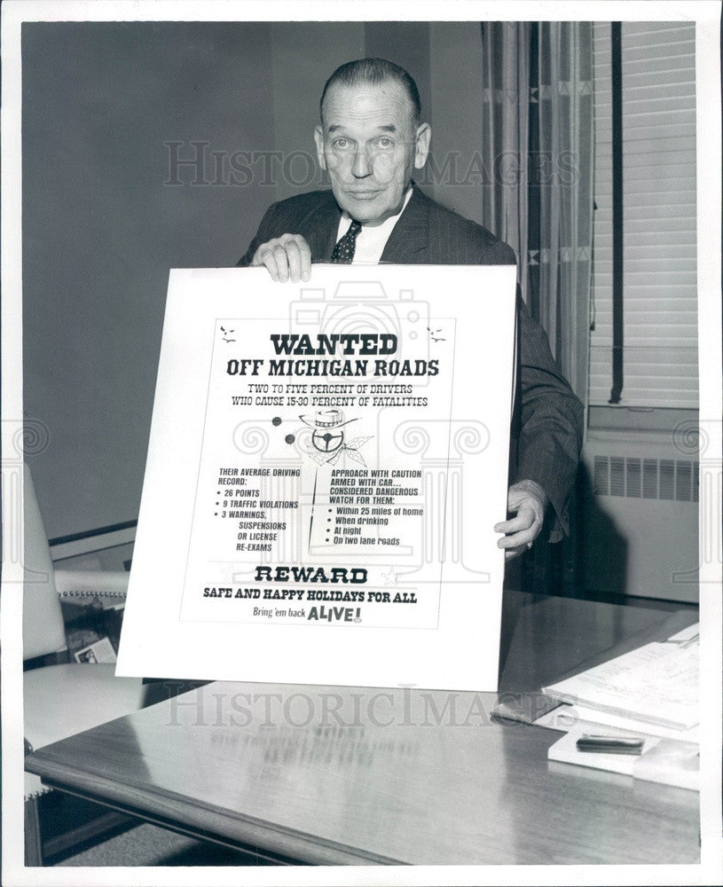 1969 Detroit, Michigan AAA Automobile Club GM Frederick Rehm Press Photo - Historic Images