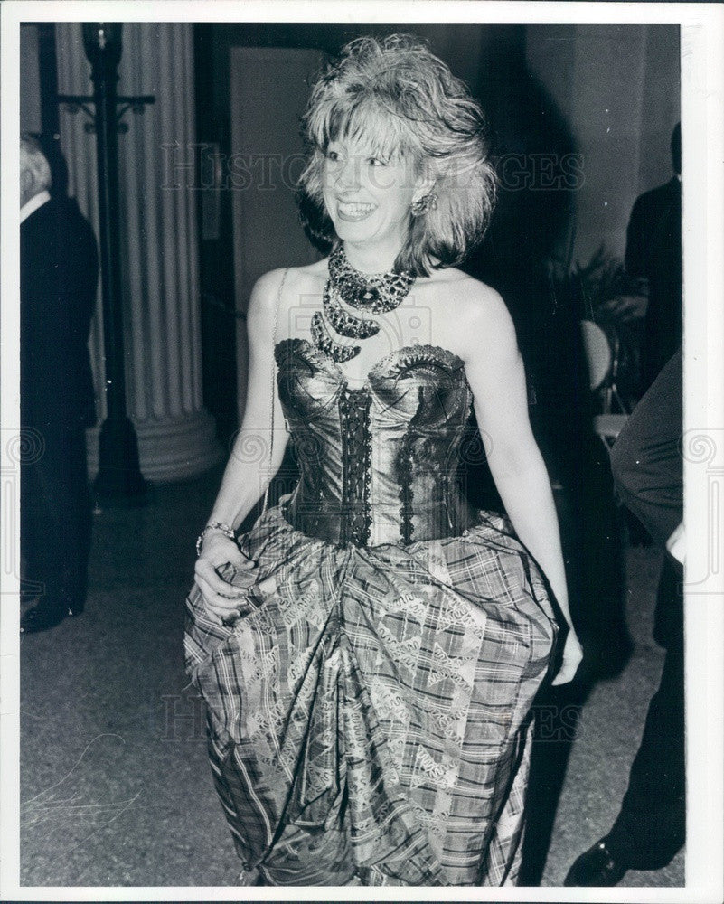 1982 British Fashion Designer Zandra Rhodes Press Photo - Historic Images