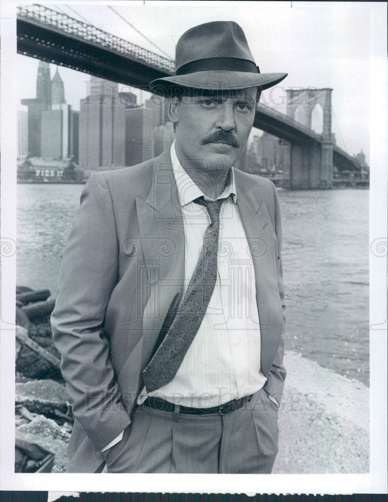 1990 American Hollywood Actor & Narrator Stacy Keach Press Photo - Historic Images