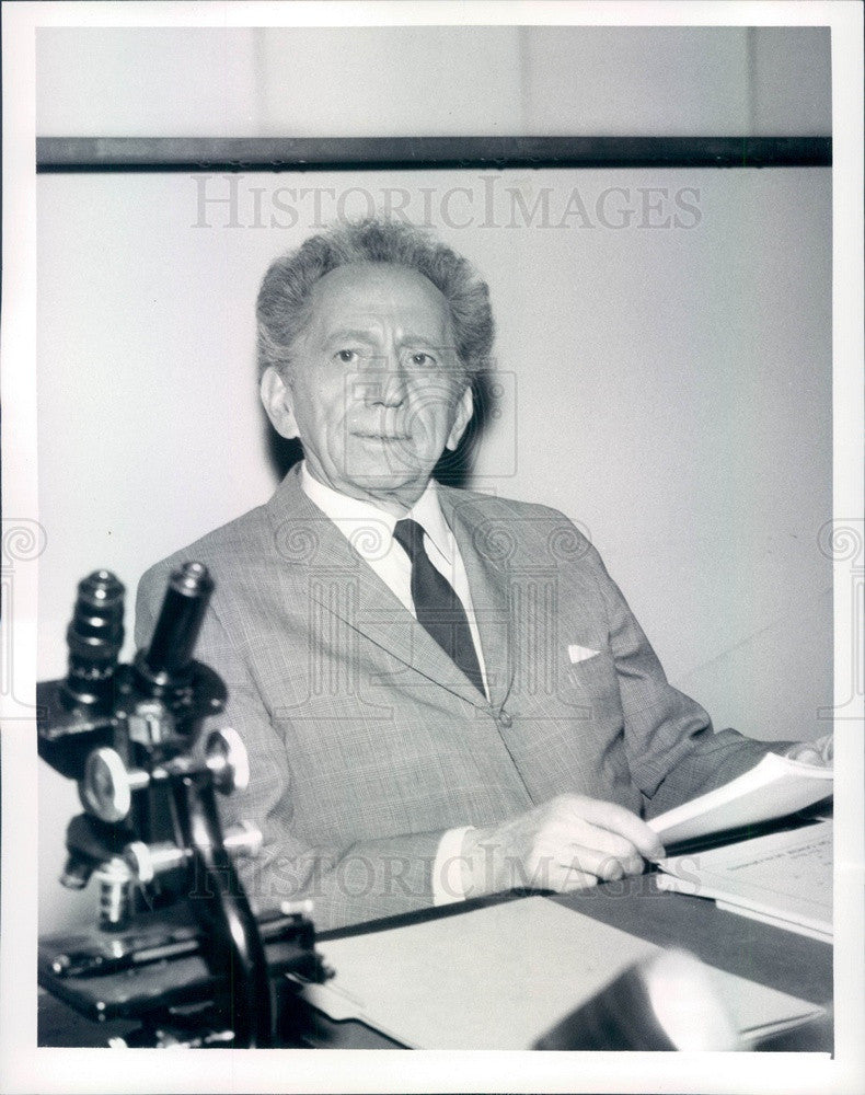 1962 American Hollywood Actor Sam Jaffe on TV Show Ben Casey Press Photo - Historic Images