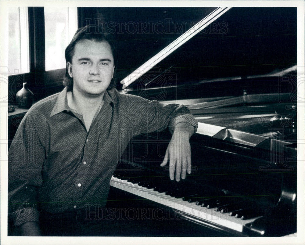 1987 American Composer/Songwriter/Pianist Peter Kater Press Photo - Historic Images