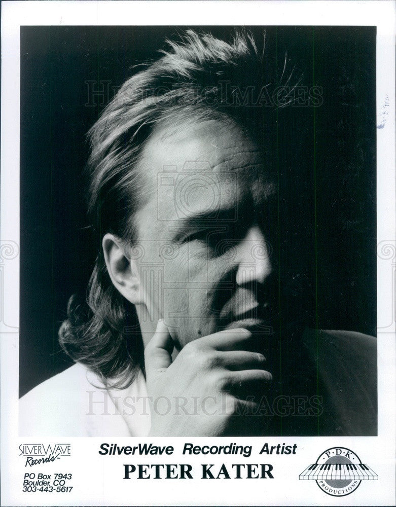 1993 American Composer/Songwriter/Pianist Peter Kater Press Photo - Historic Images
