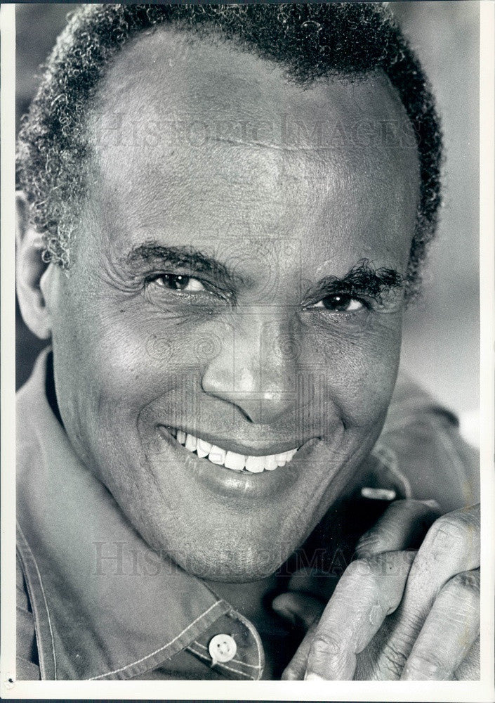 1981 Singer Harry Belafonte King of Calypso Press Photo - Historic Images