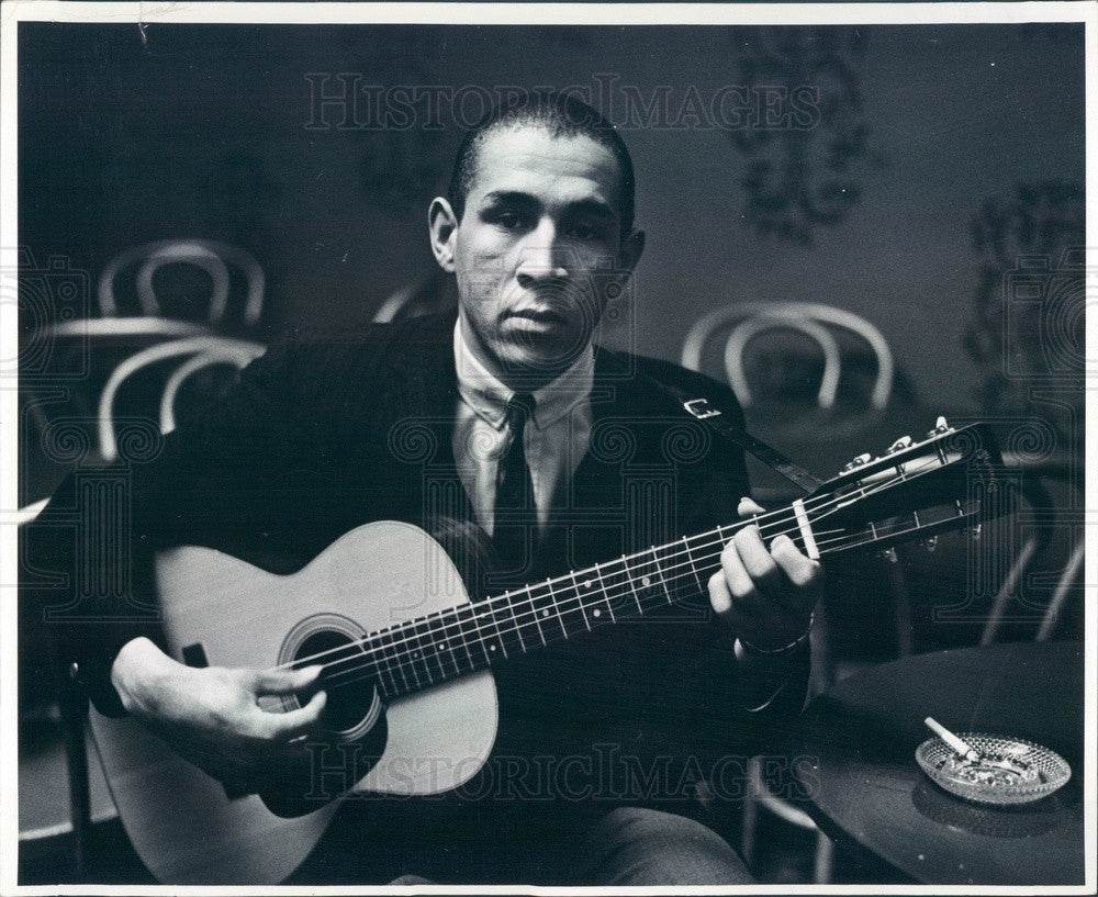 1960 Musician Recording Artist Don Crawford Press Photo - Historic Images
