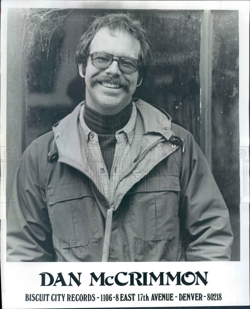 1976 Country & Blues Musician Dan McCrimmon Press Photo - Historic Images