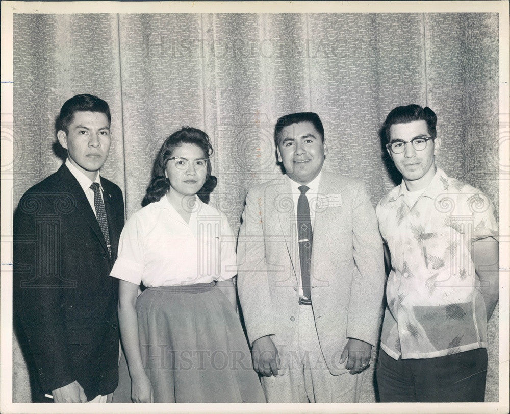 1958 Arizona State College Indian Youth Council Officers Press Photo - Historic Images