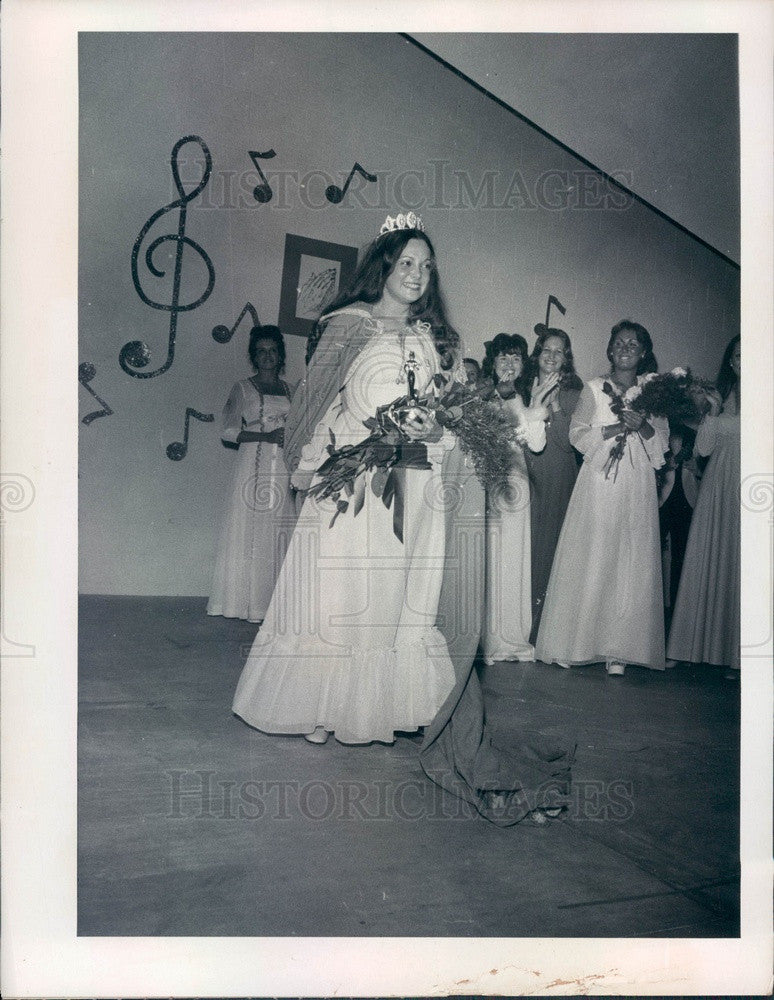 1975 Miss Pasco County, Florida Janice Notaro Press Photo - Historic Images