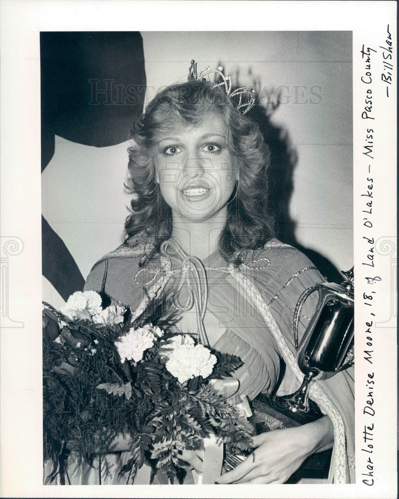 1980 Miss Pasco County, Florida Charlotte Moore Press Photo - Historic Images