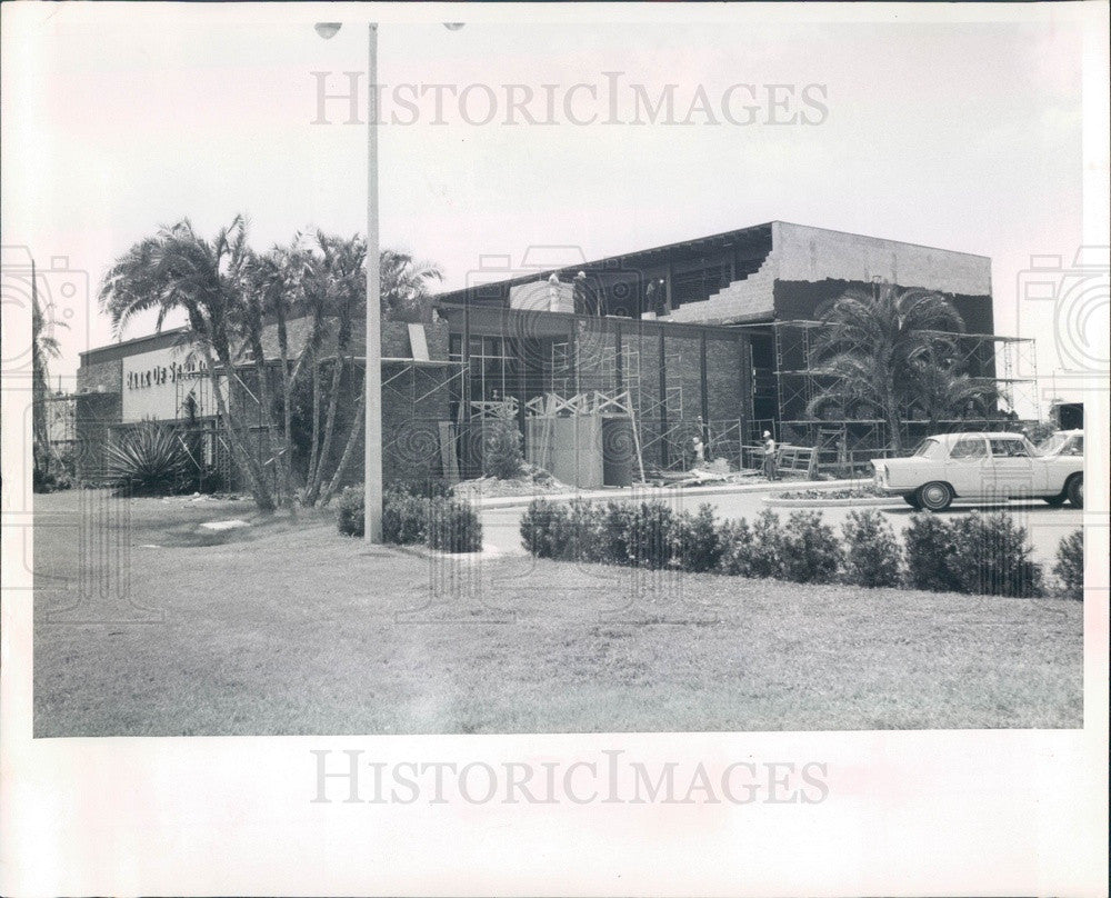 1968 St Petersburg, Florida Bank of Seminole Construction Press Photo - Historic Images