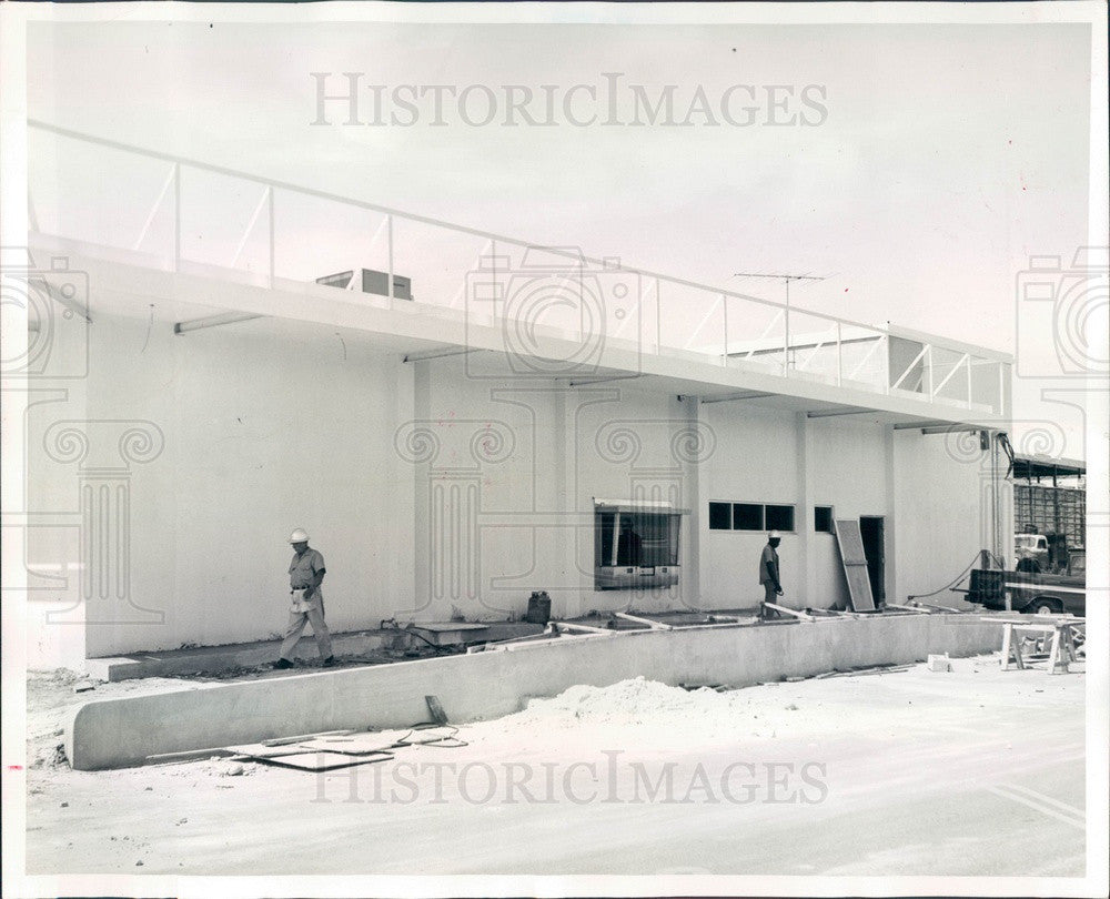 1964 Largo, Florida Bank of Indian Rocks Construction Press Photo - Historic Images