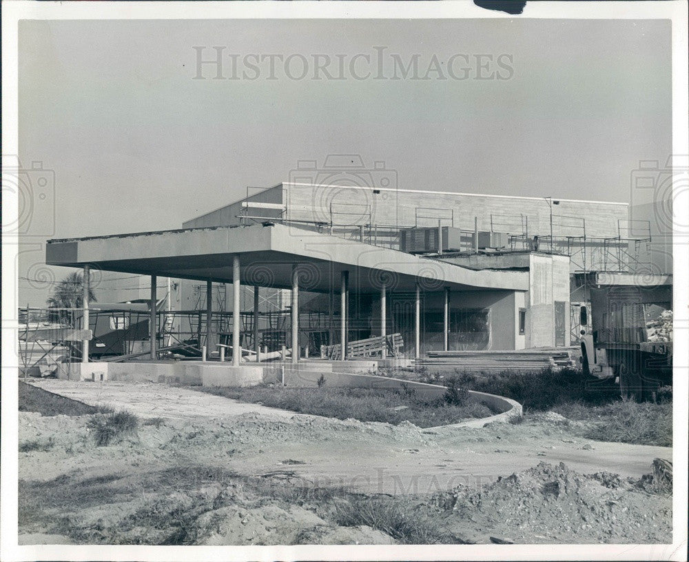 1971 Largo, Florida Bank of Indian Rocks Addition Construction Press Photo - Historic Images
