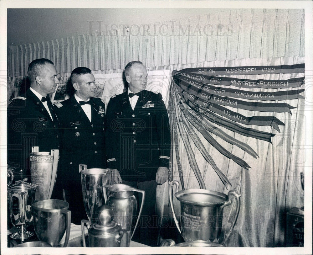 1967 Ft Carson, Colorado Battalion Commanders Lt Col Sidney Steele Press Photo - Historic Images