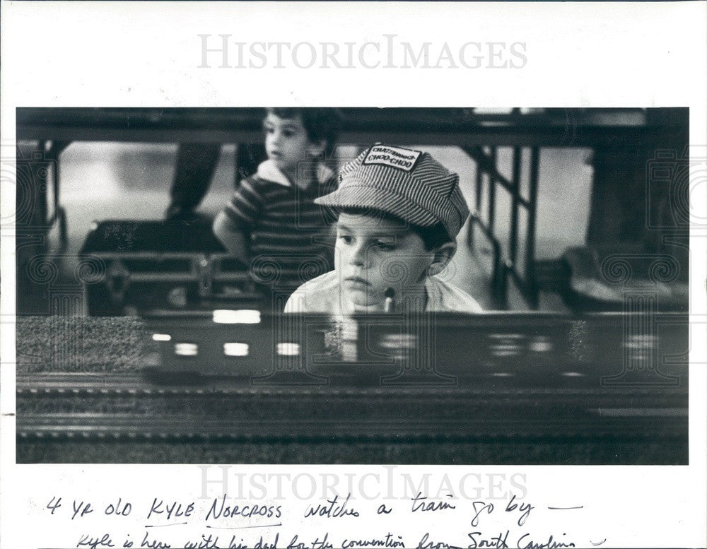 1983 St Petersburg, FL, Model Railroad Convention, Kyle Norcross Press Photo - Historic Images