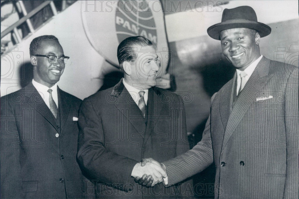 1959 Guinea President Sekou Toure, Ambassador Telli Diallo Press Photo - Historic Images