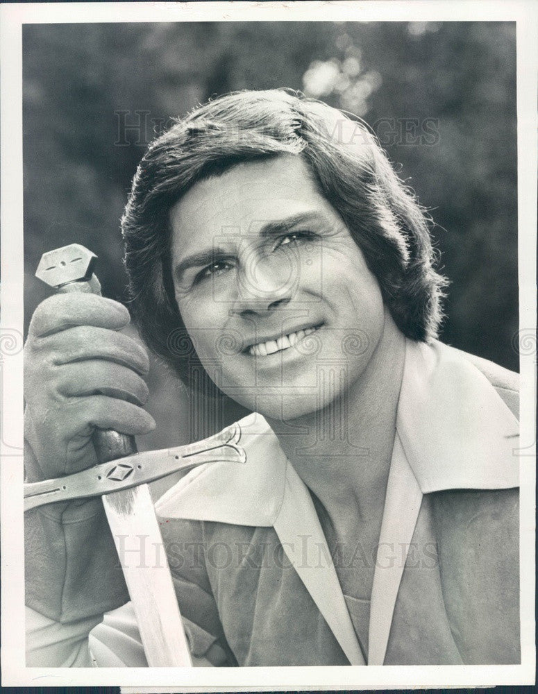1975 Actor Dick Gautier as Robin Hood on TV Show Press Photo - Historic Images