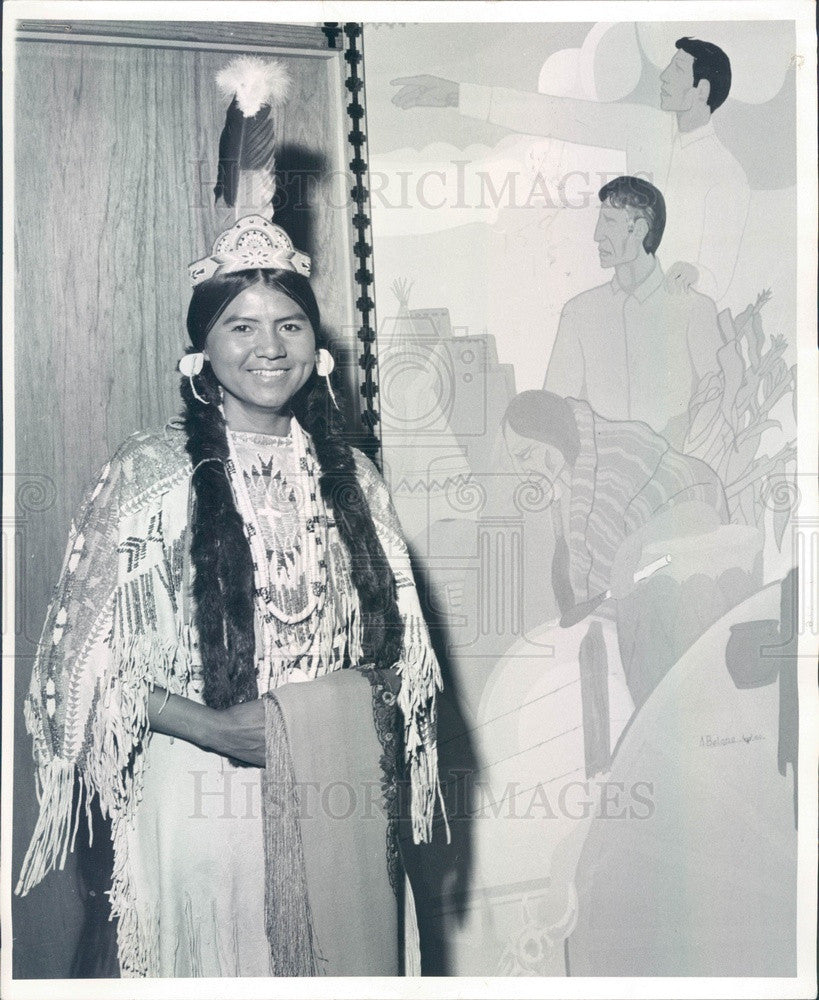 1970 Miss Indian America Contestant Patsy Tallman of Washington Press Photo - Historic Images