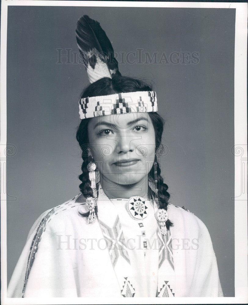 1959 Miss Indian America Alternate Georgianna Davenport of Arizona Press Photo - Historic Images